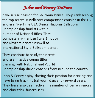 Text Box: John and Penny DeFino 